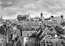 Die Nürnberger Burganlagen um 1930.