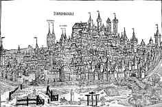 Burg und Stadt Nürnberg aus der Weltchronik des Hartmann Schedel (1493).
