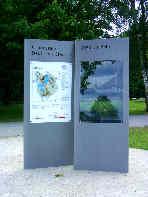 """Schautafel  """"Grundstein Deutsches Stadion""""; Info-System Reichsparteitagsgelände Nürnberg"""