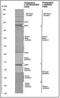 """geol. Profil des """"Tiefen Brunnen"""""""