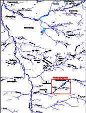 Gewässernetz im Nürnberger Becken
