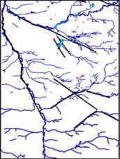 Karte der bruchtektonischen Elemente und des Gewässernetzes im Nürnberger Becken