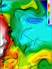 Höhenkarte des Bezugshorizontes Lehrbergschichten-Blasensandstein im Nürnberger Becken