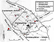 Schollentektonische Gliederung und Lage der Mineralquellen im Nordbayerischen Grundgebirge