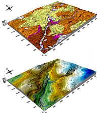 Geologisches und geomorphologisches Blockbild des Hembachgebiets