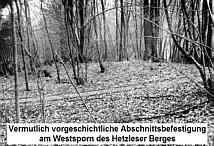 Wall der Abschnittsbefestigung am Hetzles