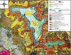 Geologische Karte des Hetzlaser Gebirges