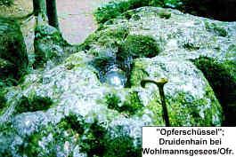 """""""Opfersch�ssel""""; Druidenhain bei Wohlmannsgesees/Ofr."""
