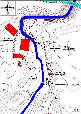 Karte des Gauchsbachtales bei Schloss Kugelhammer (Ldkr. Roth)