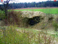 """Das """"Basaltloch"""" südlich des """"Häsigknocks"""" 1040 m östlich Oberleinleiter/Ofr."""