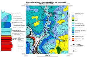 Geologische Karte des Oberen Leinleitertales 4,5 km NW´ Heiligenstadt/Ofr.