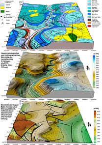Geologisches Blockbild, geomorphologisches und hydrographisches Blockbild sowie Blockbild des tektonischen Bezugshorizontes der Dogger-Malm-Grenze im oberen Leinleitertal N´ Heiligenstadt/Ofr.