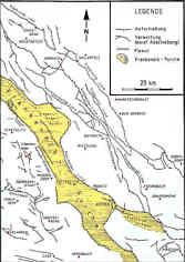 Tektonische Karte der Nördlichen Frankenalb