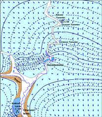 Grundwassergleichen und generelle Strömungsverhältnisse im Karstaquifer des oberen Leinleitergebiets nördlich Heiligenstadt/Ofr.