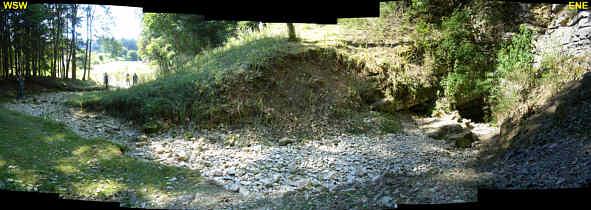 """Panoramaphote des """"Großen Tummlers"""" im Leinleiter-Trockental nördlich der Heroldsmühle/Ofr."""