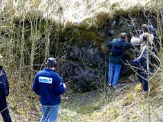 """Die Basalte des """"Häsigknocks"""" 1040 m östlich Oberleinleiter/Ofr."""