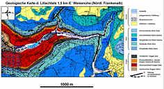 Geologische Karte des Lillachtales östlich Dorfhaus/Ofr.