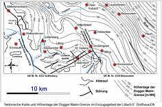 Tektonische Karte des Einzugsgebietes der Lillach