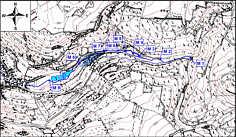 Karte der Wasserproben-Entnahmepunkte im Lillachtal.