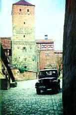 """Torgasse und """"Heidenturm"""" der Burg zu N�rnberg"""