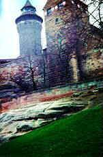 Unterer Burgsandstein am S�dhang des Burgberges