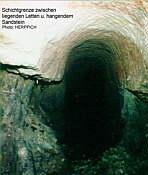 Schichtgrenze Letten/Sandstein