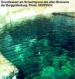 Grundwasser im Schacht d. ehem. Brunnens d. Burggrafenburg