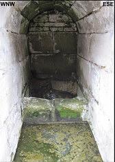Quellkammer des Margarethenbrunnen 20 m SE= des ATiefen Brunnen@ der Kaiserburg zu Nürnberg; Foto: F. Elstner/Erlangen.