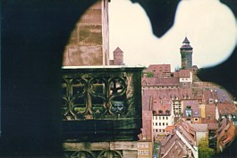 Blick zur Kaiserburg zu Nürnberg.