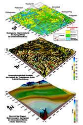Geologisches und geomorphologisches Blockbild sowie Blockbild der Dogger-Malm-Grenze im Gebiet der Veldensteiner Mulde (Nördliche Frankenalb)