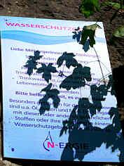 Grundwasserschutz-Hinweisschild Teufelsberghöhle NNW´ Weidlwang