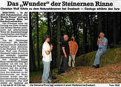 Filmaufnahmen Steinerne Rinne Erasbach.