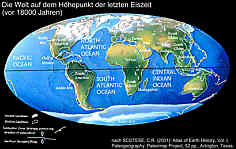 Die Welt auf dem Höhepunkt der letzten Eiszeit