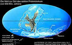 Die Welt im späten Proterozoikum