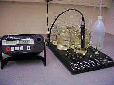 Messung der biochemischen Sauerstoffbedarfs einer Wasserprobe
