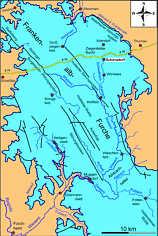 Hydrographisch/tektonische Karte der Nördlichen Frankenalb