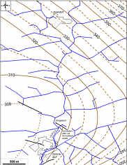 Streichlinien der Trockentäler im Vergleich zum tektonischen Bauplan im Karstgebiet von Schirradorf