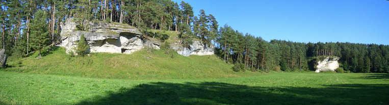 Panorama des Trockentales N' Schirradorf/Ofr.