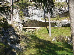 Halbhöhle (C 221) im Trockental S' Azendorf/Ofr.