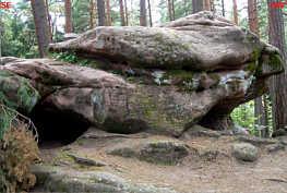 """""""Schüsselesstein"""" (Mittlerer Burgsandstein) 3150 m ESE´ der """"Gritz"""""""
