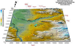 Geomorphologisch/hydrographisches Blockbild des Alt-Nürnberger Gebiets