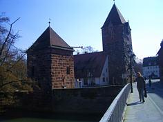 """Die """"Schuldtürme"""" auf der Insel Schütt in der Altstadt von Nürnberg."""