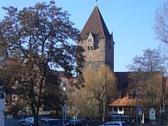 """Der """"Männerschuldtürme"""" auf der Insel Schütt in der Altstadt von Nürnberg."""