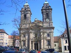 Egidienkirche in der Nördlichen Altstadt von Nürnberg.