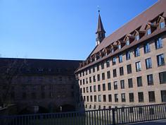 """Heilig-Geist-Spital"" an der Pegnitz in Nürnberg."