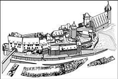 Die Burg zu Nürnberg.