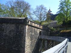 Die Bastionen N´ der Burg zu Nürnberg.