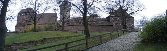 Areal der alten Burggrafenburg zu Nürnberg.