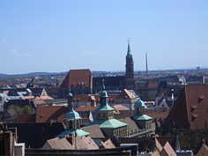 St. Lorenz-Kirche in der Südlichen Altstadt von Nürnberg.