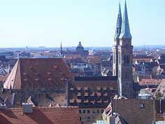 St. Sebald-Kirche in der Nördlichen Altstadt von Nürnberg.